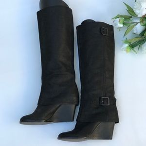 Vince Camuto Autumn Cuffed Wedge Knee Boots